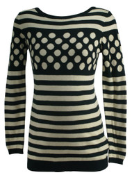 Beige A Pea in the Pod Long Sleeve Striped Maternity Blouse (Gently Used - Size Small)