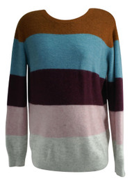 Purple H & M Mama Maternity Long Sleeve Striped Maternity Sweater (Gently Used - Size Small)