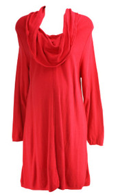 Red Motherhood Maternity Long Sleeve Cowl Neck Maternity Dress (Gently Used - Size XX-Large)
