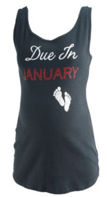 Black Motherhood Maternity Graphic Maternity Tank (Gently Used - Size XX-Large)