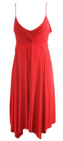 Red Motherhood Maternity Spaghetti Strap Night Out Maternity Dress (Like New - Size Large)