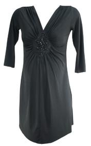 *New* Black Maternal America 3/4 Sleeve Beaded Short Dress (Size Small)