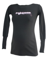 *New* Black 2 Chix Maternity Long Sleeve Graphic Tee (One Size)