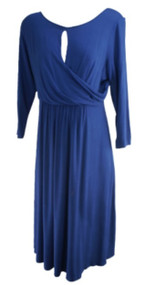 *New* Navy Mimi Maternity Long Sleeve Casual Maternity Dress (Size Large)