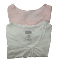 Pink & White Old Navy Maternity Lot of 2 Maternity Tees (Gently Used - Size Small)