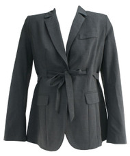 Charcoal A Pea in the Pod Maternity Belted Maternity Blazer (Gently Used - Size Small)