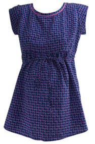 Violet Motherhood Maternity Polk-A-Dot Career Baby Doll Maternity Top (Like New - Size Small)