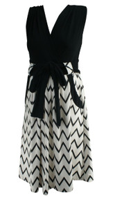 Black Olian Maternity V-Cut Sleeveless Career Maternity Dress (Gently Used - Size Medium)