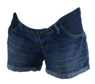 Dark Wash A Pea in the Pod Maternity Jean Shorts (Gently Used - Size Medium)
