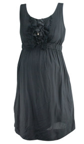 Black Motherhood Maternity Double Lined Ruffled Sequenced Dress (Like New - Size Small)