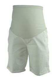 White Motherhood Maternity Full Panel Maternity Shorts (Gently Used - Size Small)