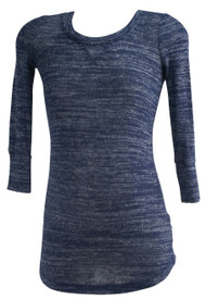 Slate Blue A Pea in the Pod Maternity Circle Neck Casual Maternity Long Sleeve Top (Gently Used - Size X-Small)