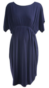 Slate Blue Isabella Oliver Maternity Circle Neck Cinched Maternity Career Dress (Like New - Size 5)