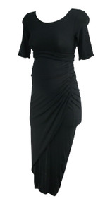 Black Isabella Oliver Maternity 3/4 Sleeve Ruched Career Maternity Dress (Gently Used - Size 1)