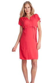 Coral Seraphine Maternity Short Sleeve Casual Dress (Like New - Size 8USA)
