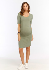Sage  Rosie Pope Maternity Ruth Casual 3/4 Sleeve Dress (Like New - Size Large )