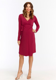 Orchid Rosie Pope Maternity Long Sleeve Wrap Dress (Like New - Size Large)