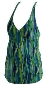 Blue and Green Old Navy Maternity Amazon Print Maternity Tankini Set (Gently Used - Size Small)