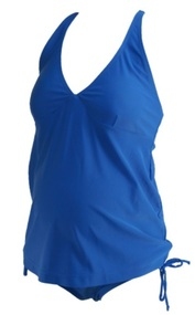 Summer Blue Old Navy Maternity Adjustable String Maternity Tankini (Gently Used - Size Small)