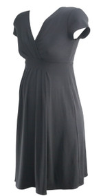 Black and Gray Motherhood Maternity Lot of 2 V-Neck Adjustable String Maternity Dress (Gently Used - Size Small)