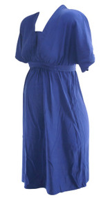 Denim Blue AKA New York for A Pea in the Pod Collection Maternity Career Dress (Like New - Size Small)