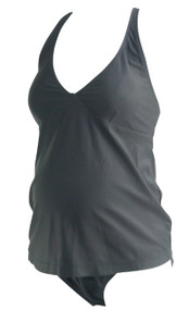 Black Old Navy Maternity Solid Tankini Maternity Swimwear (Gently Used - Size Small)