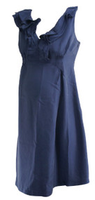 Navy Blue GAP Maternity Ruffle Neck Sleeveless Career Maternity Dress (Like New - Size Small)