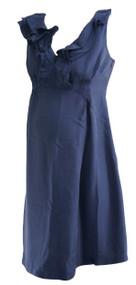 Navy Blue GAP Maternity Ruffle Neck Sleeveless Career Maternity Dress (Like New - Size Small)