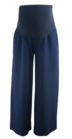 Navy A Pea in the Pod Maternity Flowy Career Maternity Trousers (Like New - Size X-Small)