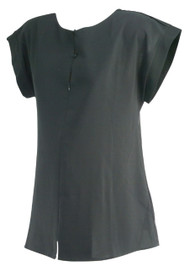 Black Seraphine Maternity Box Cut Casual Maternity Top (Gently Used - Size 8)