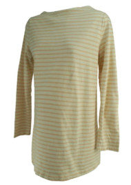 Cream GAP Maternity Long Sleeve Striped Casual Maternity Tunic Top (Gently Used - Size Large)