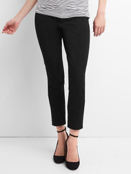 Black Gap Maternity Inset Panel Skinny Ankle Pants in Bi-Stretch (Like New - Size 4)