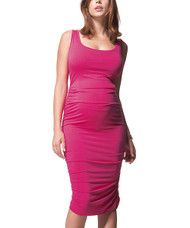 Hot Pink Isabella Oliver Maternity Ruched Dress (Like New - Size 1)