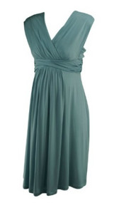 Duck Egg Blue Seraphine Luxe Maternity Broad Strap Special Occasion Maternity Dress (Like New - Size 8)
