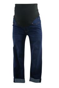 Dark Wash Liverpool Maternity Cuffed Capri Jeans (Like New - Size 4)