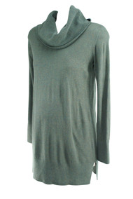 Charcoal Loft Maternity Long Sleeve Career Maternity Blouse (Like New - Size Small)