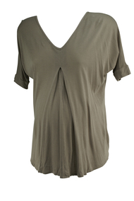 Taupe A Pea in the Pod Maternity Oversized Casual Maternity Tee (Gently Used - Size Small)