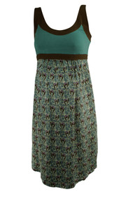 Blue A Pea in the Pod Maternity Sleeveless Printed Casual Maternity Dress (Gently Used - Size Medium)