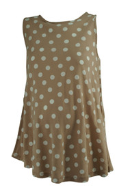 Taupe Asos Maternity Polk-A-Dotted Sleeveless Top (Gently Used - Size 6)