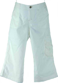 White Cargo Bermuda Shorts by A Pea In A Pod (Gently Used - Size Medium)