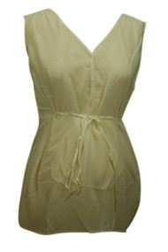 *New* Ivory Silk A Pea In the Pod Sleeveless Keyhole Detail Maternity Blouse (Large)