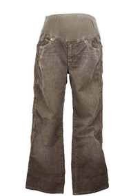 Brown 7 for All Mankind - A Pea in a Pod Maternity Corduroy Pants (Large Short)