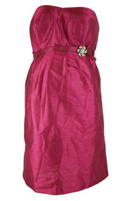 *New* Donna Morgan Strapless Belted Maternity Dress (Medium)