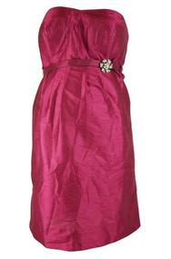 *New* Donna Morgan Strapless Belted Maternity Dress (Medium)