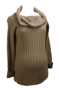Tan Noppies Maternity Turtle Neck Heavy Sweater (Like New - Size Medium/Large)