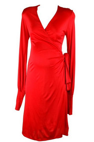 *New* Red Isabella Oliver Wrap Maternity Dress (Size Small)