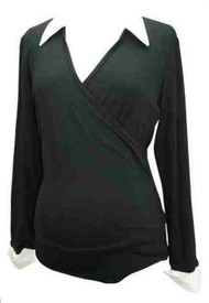 *New* Japanese Weekend Maternity Faux Wrap Blouse (Gently Used - Size X-Large)