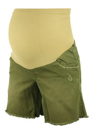 Indigo Blue Muddy Green Maternity Shorts (Gently Used - Size X-Small)