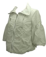 White Motherhood Maternity Spring Jacket (Gently Used - Size Small)