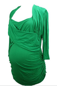 Green Isabella Oliver Faux Wrap Top (Gently Used - Size 6)